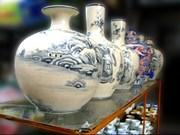 Une zone d'exposition de la céramique de Bat Trang