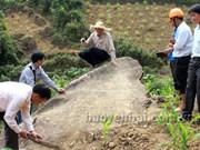 Des oeuvres d'art rupestre découvertes à Yen Bai