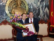 Le vice-président de la Cour populaire suprême du Laos à l'honneur