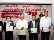 Clôture du 1er cours de langue vietnamienne destiné aux cadres laotiens