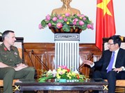 Pham Binh Minh reçoit le chef de la force de défense de la Nouvelle-Zélande