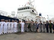Un patrouilleur de la force de protection des côtes indiennes fait escale à HCM-Ville