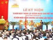 Le 70e anniversaire de la diplomatie vietnamienne célébré en Italie