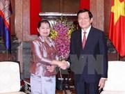 Le président Truong Tan sang reçoit la vice-PM cambodgienne