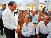 Nguyen Xuan Phuc rencontre des électeurs de Quang Nam