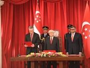Singapour : le Premier ministre Lee Hsien Loong prête serment