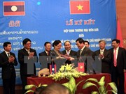 Adoption de l'accord sur le commerce transfrontalier Vietnam-Laos