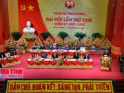 Ouverture du 18e Congrès de l'organisation du PCV pour Ha Tinh