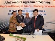 La Chine construira une voie ferrée à grande vitesse en Indonésie