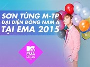 Son Tùng M-TP représentera l'Asie du Sud-Est aux EMA 2015