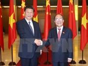 Entrevue Nguyen Sinh Hung-Xi Jinping