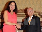 Ho Chi Minh-Ville accueille la présidente du Sénat belge