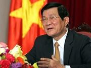 Le président Truong Tân Sang participera au 23e Sommet de l'APEC