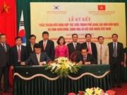 Asan et Ninh Binh signent un accord d'amitié