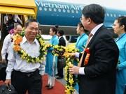 Inauguration de la nouvelle ligne domestique Nha Trang - Hai Phong