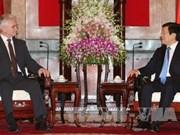 Le chef de l'État reçoit le Président du Sénat tchèque