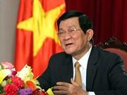 Le président Truong Tan Sang effectuera une visite d'Etat en Allemagne