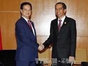 Entrevue entre le PM vietnamien et le président indonésien