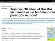 La presse argentine loue des réalisations du Doi moi