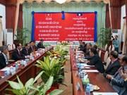 Le ministre Tran Dai Quang en visite de travail au Laos