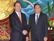 De hauts dirigeants laotiens reçoivent le ministre vietnamien de la Sécurité publique