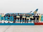 Vietnam Airlines reçoit son 160 millionième passager