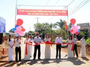 Inauguration d'une zone d'élevage financée par la BM