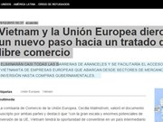 L'Agence Telam salue la fin des négociations de l'ALE Vietnam-UE