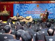 Conférence-bilan de 2015 du ministère de l'Industrie et du Commerce