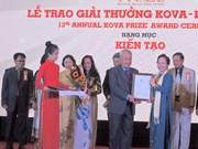 Remise du prix KOVA aux scientifiques et étudiants exemplaires