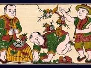 """""""Trait du printemps"""": honorer les valeurs culturelles de la peinture populaire du Vietnam"""