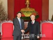 Vietnam-Chine: Nguyen Phu Trong reçoit l'envoyé spécial de Xi Jinping