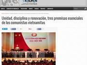 La presse argentine apprécie les résultats du 12e Congrès national du PCV