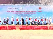 Mise en chantier de la centrale éolienne République de Corée – Tra Vinh