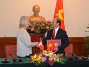 Vietnam et Danemark signent un plan d'action commun 2016