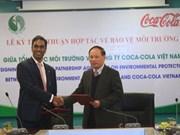 Coopération dans la protection de l'environnement avec la Sarl Coca-Cola Vietnam