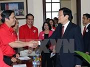 Le président Truong Tan Sang exhorte la Croix-Rouge à faire preuve d'initiative