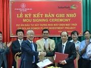 Une société sud-coréenne construira une centrale solaire à Dak Lak