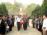 Inhumation des restes de soldats tombés au Laos à Dien Bien