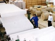Croissance continue des exportations de papier