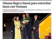 La presse argentine et italienne parle de la visite du président Obama au Vietnam