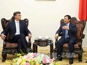 Le vice-Premier ministre Vuong Dinh Hue reçoit des hôtes australiens