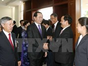 Poursuite des activités du président Trân Dai Quang au Laos