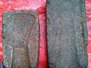 Découverte de deux anciens moules en pierre à Yên Bai