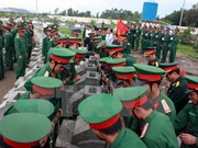 Inhumation des restes de soldats de Kien Giang et de Dong Thap tombés au Cambodge