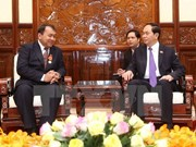 Le président Tran Dai Quang reçoit l'ambassadeur cambodgien
