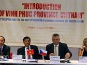 Vinh Phuc cherche des partenariats avec la République tchèque