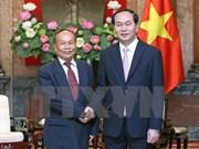 Le chef de l'Etat reçoit le ministre d'État et ministre cambodgien des Cultes et Religions
