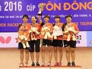 Raquette d'Or : le Vietnam remporte une médaille d'or