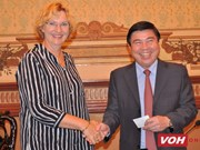 Le maire de HCM-V reçoit la directrice de l'UNICEF pour l'Asie de l'Est et le Pacifique